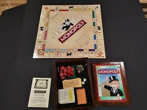 Monopoly Vintage Game Collection Bookshelf Edition Wood Box Complete 2009