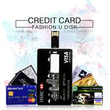 Credit Card shape USB 2.0 flash drive bank card pendrive memory stick gift lot