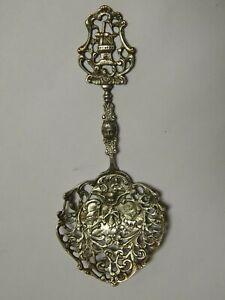 ANTIQUE 1800'S DUTCH  830 SILVER  ORNATE, ART NOUVEAU SERVING SPOON