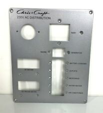"Chris Craft 230V AC Distribution Instrument / Gauge Panel 9"" x 7 1/2"""