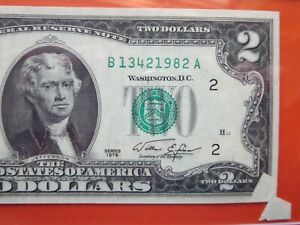 $2 1976 US note graded error:  paper jam foldover  26-026