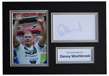 Danny Washbrook Signed Autograph A4 photo mount display Hull Fc Rugby League