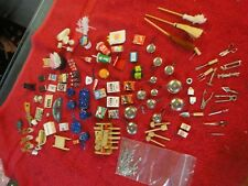 125 lot miniature dollhouse pots broom cola newspaper first aid rolling pin soap