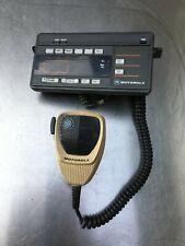 Set Of Motorola Control Head Maratrac Hcn1052b And Microphone Hmn1061a