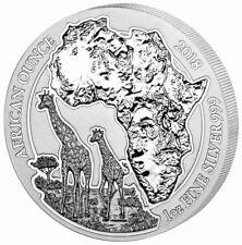 African Ounce Giraffe 2018 1 OZ Unze Ounce Silber Silver Ruanda