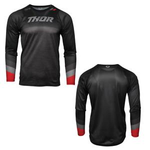 2021 Thor Assist Adult MTB Long-Sleeve Black/Heather Gray Jersey - Pick Size