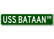 USS BATAAN AVT 4 Ship Navy Sailor Metal Street Sign - Aluminum