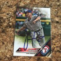 Jake Diekman Signed 2016 Topps Update Auto Texas Rangers Oakland Athletics