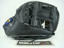 "New ZETT Gran Status 12"" Infield Baseball / Softball Glove Black H-Web RHT SALE"
