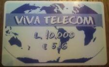 4714 SCHEDA TELEFONICA USATA INTERNAZIONALE VIVA TELECOM 10 5,16 STICKER