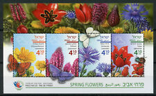 Israel 2018 MNH Spring Flowers Tulips Chrysanthemum 4v M/S Flora Nature Stamps