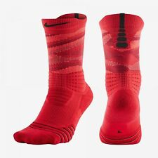 Nike Elite Versatilidad Crew Baloncesto Entrenamiento Socks-Red / Negro