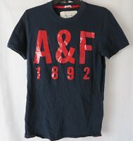 """Abercrombie Fitch Mens Muscle T Shirt """"A&F 1892"""" Short Sleeve Black Large #6834"""