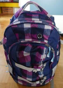 """Satch pack """"Berry Carry"""" Schultasche, Schulrucksack kariert blau/lila 30 Liter"""