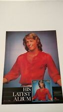 BEE GEES ANDY GIBB LATEST ALBUM (1978)   RARE ORIGINAL PRINT PROMO POSTER AD
