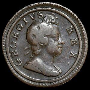 George I, 1714-27. Farthing, 1717. 'Dump' Issue. Scarce.