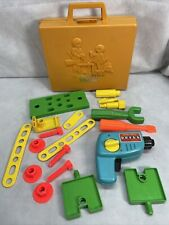 Vintage 1977 Fisher Price Tool Kit #924 Carrying Case Working Drill