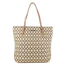NINE WEST Fabric 2 Tone Cotton Tote Bag
