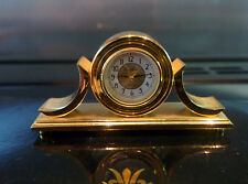 Woodford miniature Goldtone mantle clock - boxed