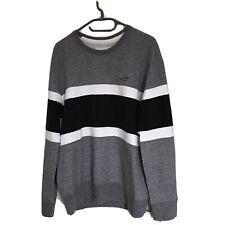 Hollister Mens Sweatshirt, Size M, Grey/black/white
