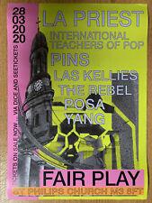 LA PRIEST / INTERNATIONAL TEACHERS OF POP / PINS 3/20 Gig A3 Promotional Poster