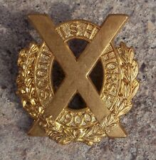 British Army Scottish Horse Imperial Yeomanry Brass Metal Cap Badge Reproduction