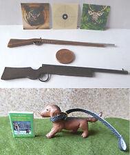 Jagd Gewehr Flinte Jagdhund Schießscheiben Modellbau Puppenstube Miniatur 1:12