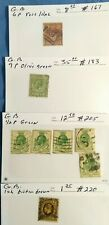 Great Britain postage stamps, King George V, Used, Scott #167, 183, 205, 220 LH