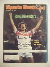JOHN McENROE signed 1980 Sports Illustrated tennis magazine Autographed AUTO SI