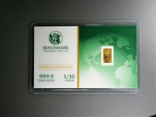1/10 Gram Gold Bar  24K 999.9 Fine Gold Bullion Bar in sealed cert card 2c