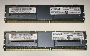 16GB (2x8GB) Crucial ECC Memory, DDR2 PC2-5300F, 240-pin DIMM