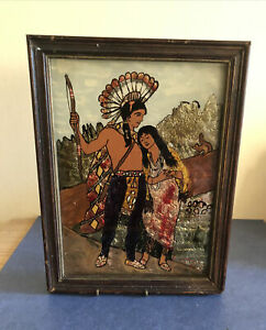 Antique American  Folk Art , Stencil Artwork, Circa 1900