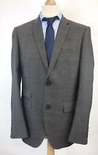 "Moss Bros Ventuno 21 Mens Wool Suit Blazer Jacket Brown EUR50"" UK40"" R Slim Fit"
