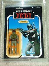 Vintage Star Wars 1983 KENNER AFA 80/85/85 BOBA FETT ROTJ 77 BACK-A CARD MOC!!!