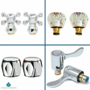Basin Tap Conversion Kits Lever Handle Metal Traditional Hot & Cold Pair