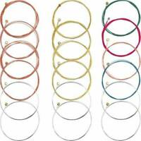Set of 6 Replacement Steel Classic Acoustic Guitar Strings Brass/Copper/Colorful