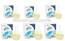 6 X GLADE ELECTRIC CLEAN LINEN PLUG IN REFILLS 20ML EACH