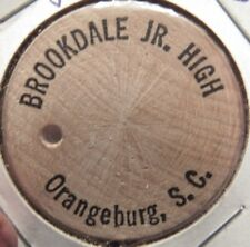 Vintage Brookdale Jr. High Orangeburg, SC Wooden Nickel - Token South Carolina