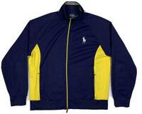 Polo Ralph Lauren Big Pony Mens Large Navy Blue Full Zip Track Jacket