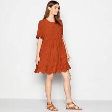 Principles Terracotta Broderie Swing Dress Sz 20 Bnwt £32