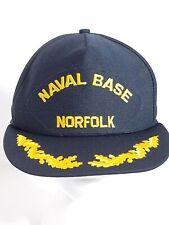 352f607b899 Naval Base Norfolk Blue Ball Cap Hat Snapback