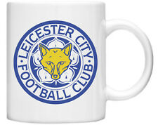 Leicester Football Club on to White Mug with Badge both Sides Xmas Gift