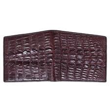 !!Genuine Crocodile Bone Tail Skin Leather Men Brown Bifold Card Wallet Kanthima