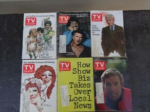 (12) VINTAGE TV GUIDE MAGAZINES ALL DATED 1974 ^