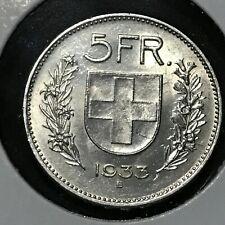 Switzerland 5 Frans KM 40 BU 1933 B