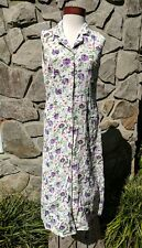 Original Island Sport Women's 10 Dress Button Up Floral Vintage Modest C14