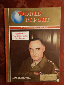 WORLD REPORT magazine August 22 1946 Lucius D. Clay Post-WWII Germany