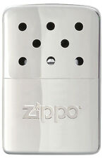 Zippo Refillable Deluxe Chrome 6 Hour Hand Warmer With Pouch & Filling Cup 40321
