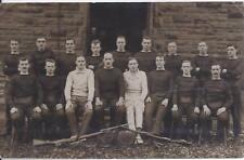 1910s RP POSTCARD WORLD WAR ONE ERA ENGLISH? FENCING GROUP & RIFLES