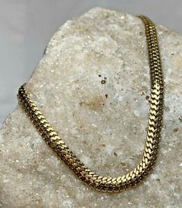 14K Yellow Gold Gourmet Cuban Chain Bracelet 4.49g Jewelry Lobster Claw Strand